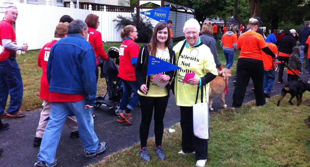 photo KSPH activists Jamie Beard and Harriette Seiler at the Hemophilia Walk.