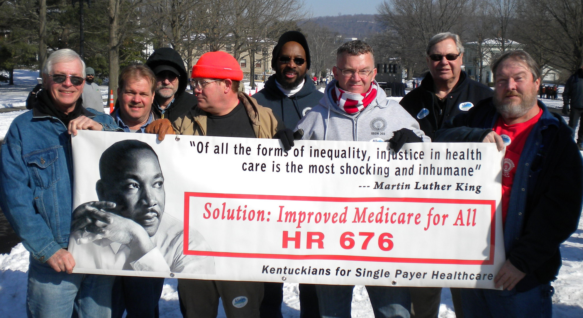 photo Kentucky Single Payer Activists March on Frankfort, March 2014