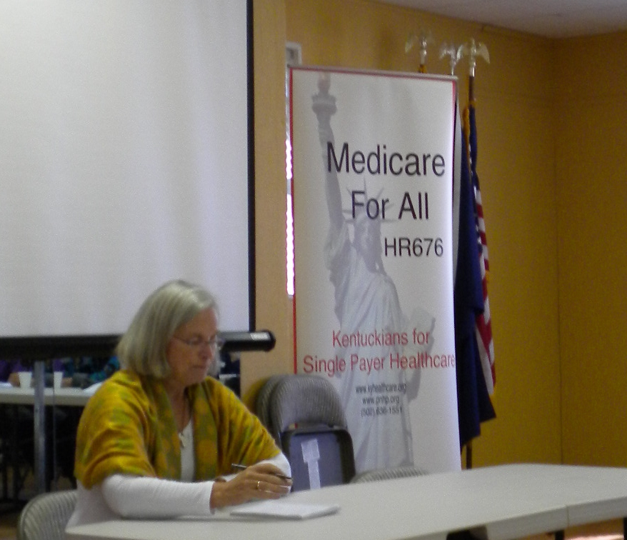 Dr. Carol A. Paris spoke at the PNHP-KY Annual Meeting