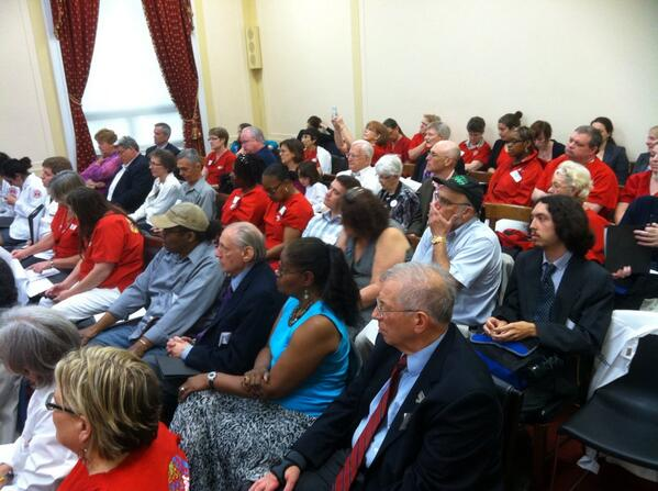 Participants in the National Single Payer Lobby Day held in Washington, DC, on May 22, 2014
