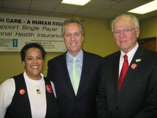 Dr. Fegan; Greg Fischer, Mayor of Louisville, Dr. Adams