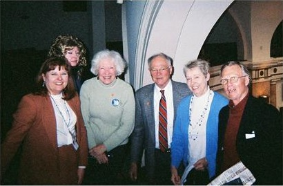 Single Payer supporters with Joni Jenkins after passage of HR81.