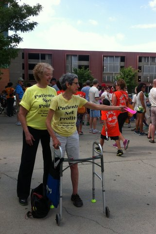 Kay Tillow & Jill Harmer at MS Walk, Louisville, May 30, 2015