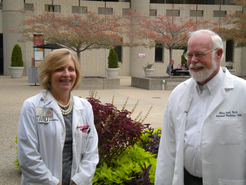 Dr. Barbara Casper with Dr. Peter Esch