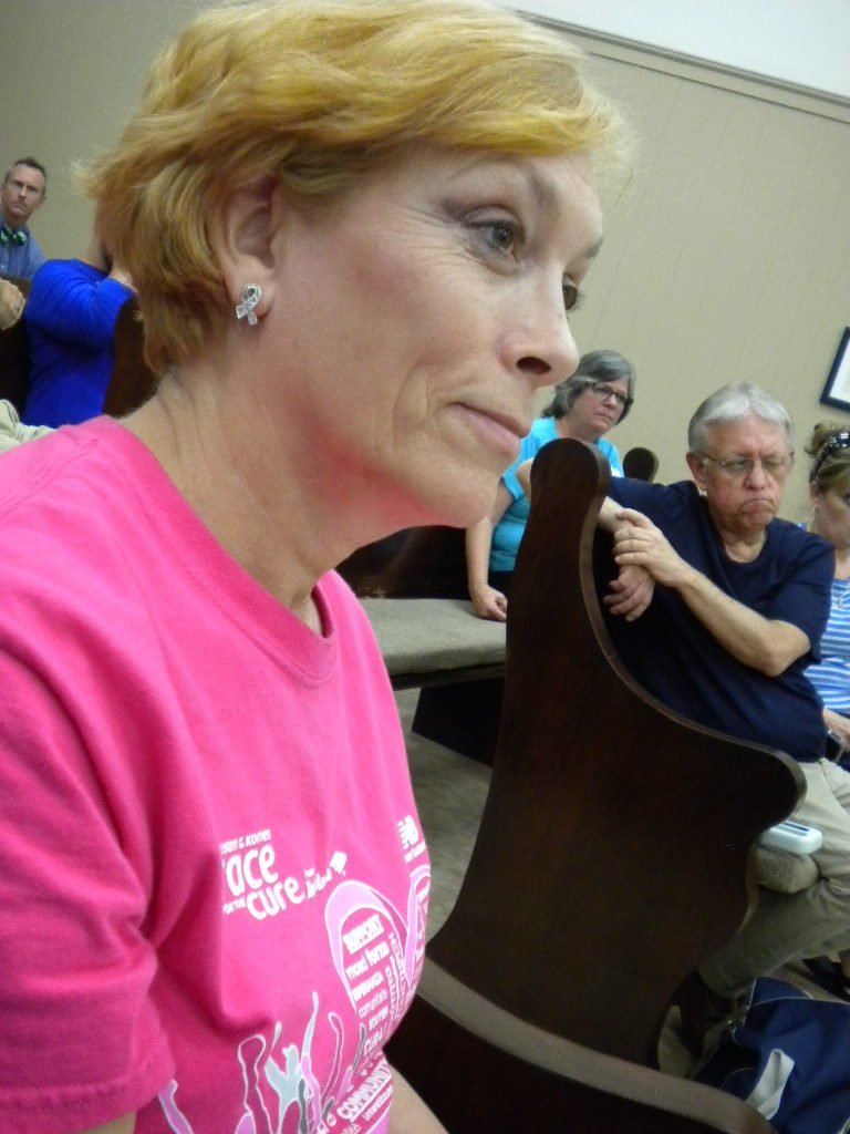 Jennifer Smith at Rep. James Comer's Town Hall in Benton, KY, on May 10, 2017