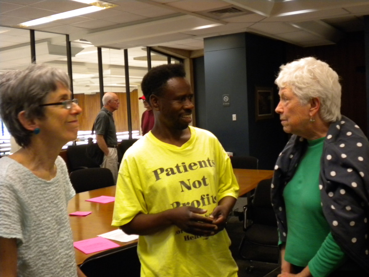 Jill Harmer, Antonio Wilson and Harriette Seiler at a KSPH meeting