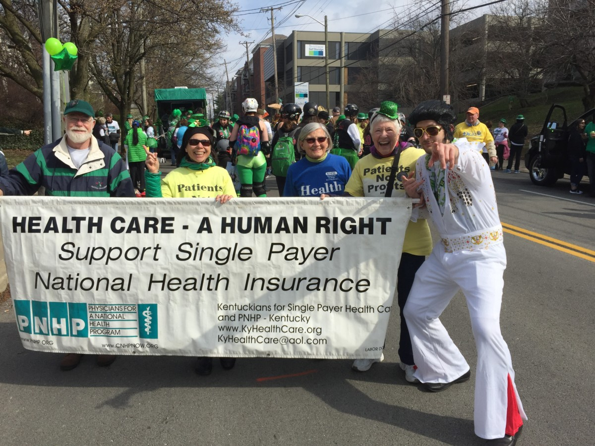 Even Elvis joined the single payer contingent.
