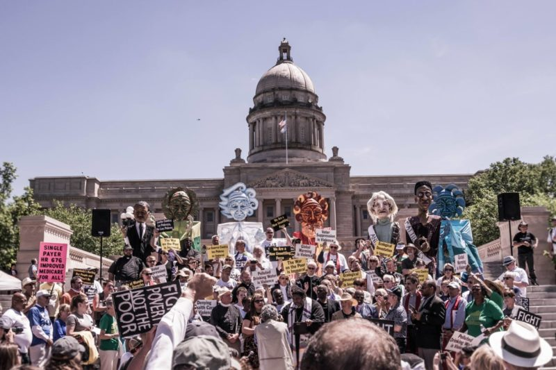 June 4, 2018, Rally for Health Care and a Healthy Planet on the Capitol Steps in Frankfort
