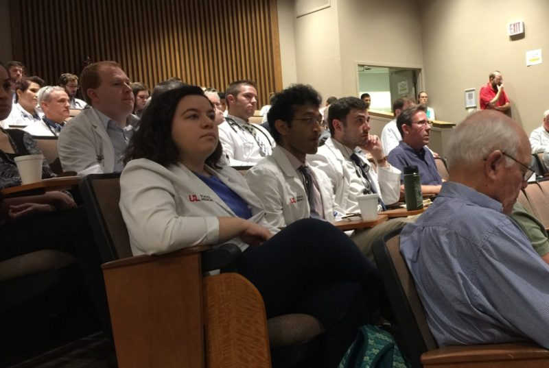 Part of the audience at the University of Louisville Department of Medicine Grand Rounds.