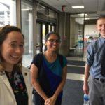 Medical student leaders of U of L SNaHP (l to r) Sarah Parker, Mallika Sabharwal, Michael Gasser.
