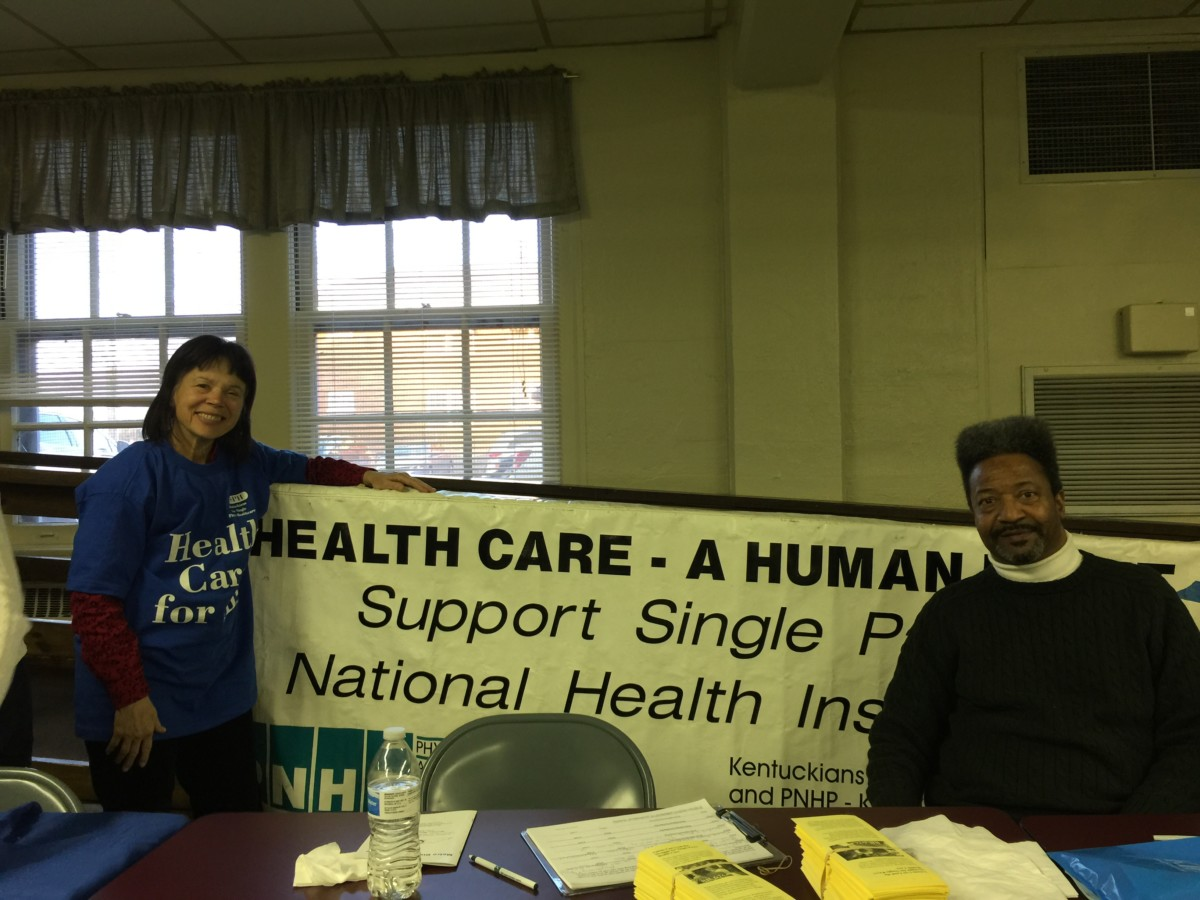 Christine Perlin and Antonio Wickliffe at the KSPH table