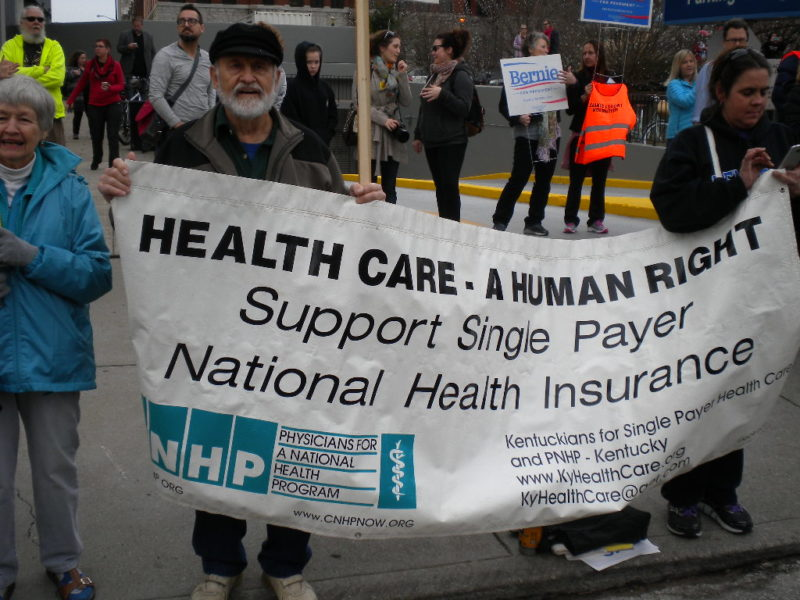 Banner of Kentuckians for Single Payer Health Care