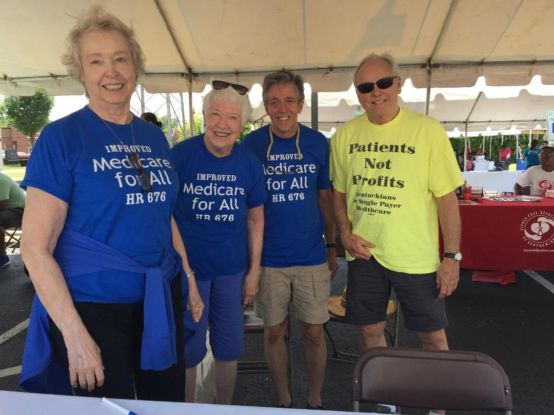 Kentuckians for Single Payer Health Care spent Saturday, Aug. 3, 2019, at the health fair of Park DuValle Community Health Center.