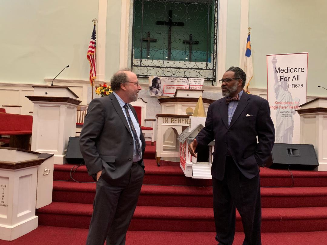 L to R: Professor Gerald Friedman and the Rev. Ron Robinson